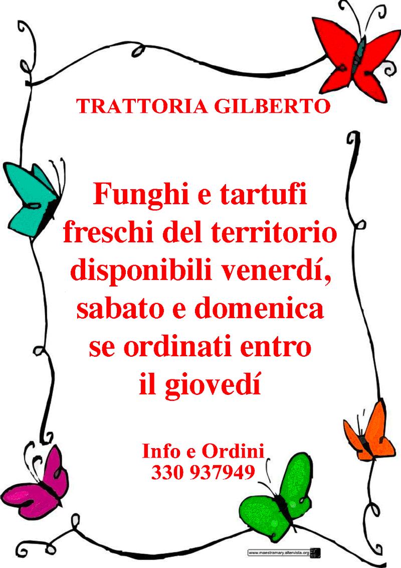 menu funghi e tartufo trattoria gilberto bologna