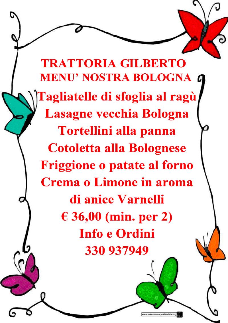 menu trattoria gilberto bologna